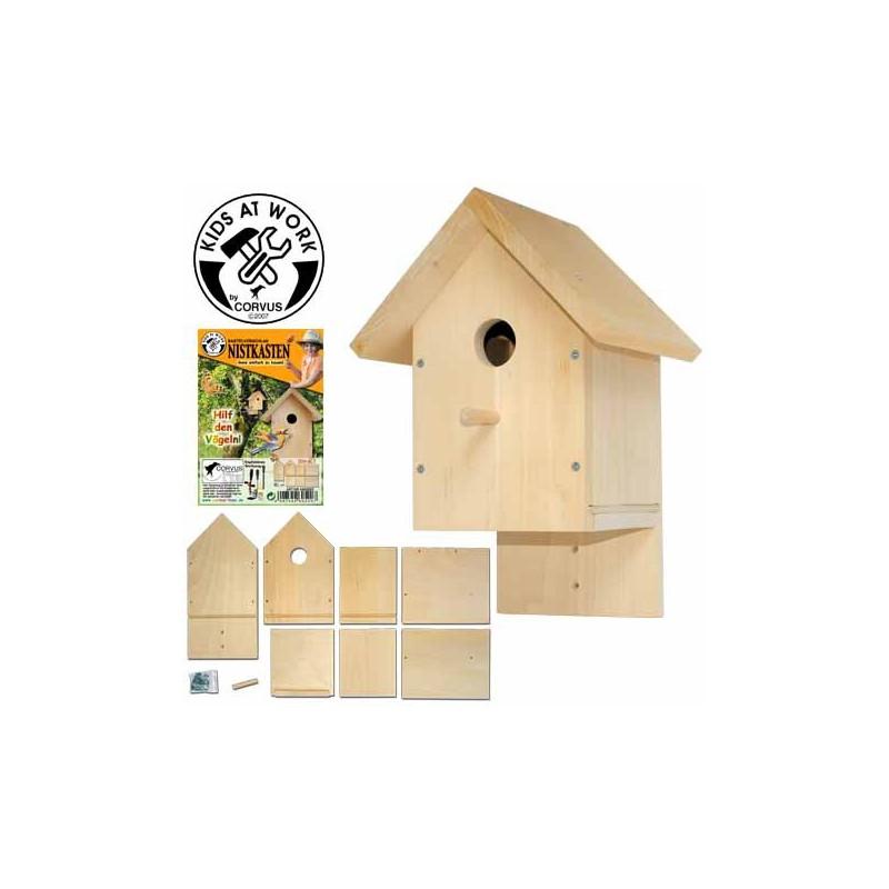 vogelhaus bausatz f r kinder ab 8 jahren corvus toys kids at work. Black Bedroom Furniture Sets. Home Design Ideas