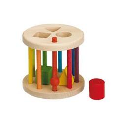 farbige Steckrassel-Formenspiel