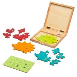 Igel-Puzzle - Farb- und Zahlenlernspiel