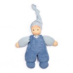 Kleine Puppen blau/weiß