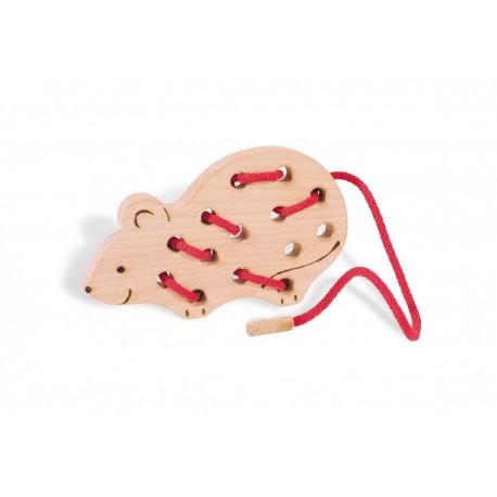Fädelspiel Maus