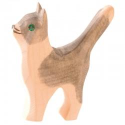 Holztier: Katze