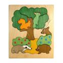 """Doppelpuzzle """"Tiere des Waldes"""""""