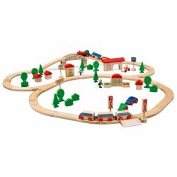 Holz-Eisenbahn Set groß