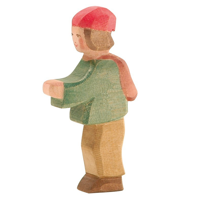 Holzfigur: Hirtenbub
