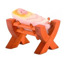 Holzfigur: Krippe mit Jesukind II