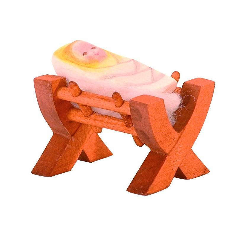 holzfigur krippe mit jesukind ii waelderspielzeug. Black Bedroom Furniture Sets. Home Design Ideas