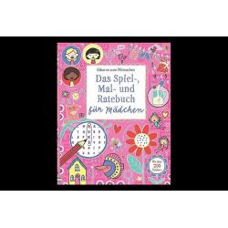 Buch Rätsel, Malen, Raten Mädchen