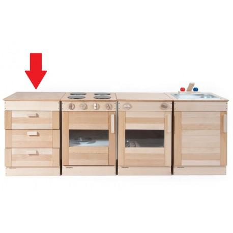 Kinderküche Schubladenschrank