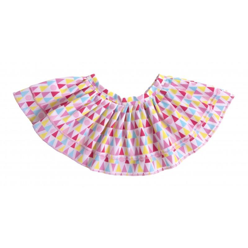Kids-Outfit Geometric Skirt