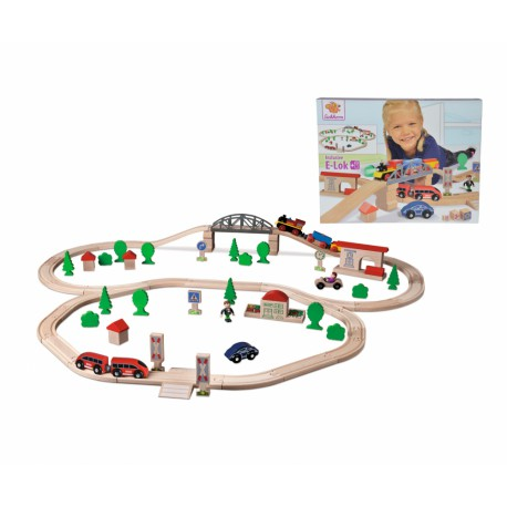 Hol-Eisenbahn Set mit E-Lok