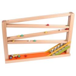 Kugelbahn mit Glockenspiel bunt