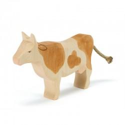 Holztier: Kuh braun stehend