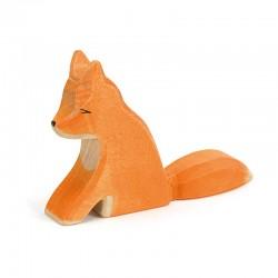 Holztier: Fuchs groß sitzend