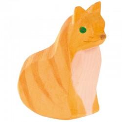 Holztier: Katze sitzend