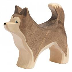 Holztier: Schlittenhund stehend