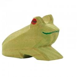 Holztier: Frosch sitzend