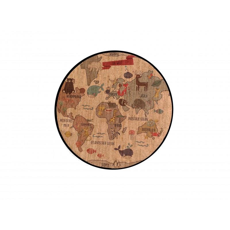 Spielteppich aus Kork - Welt