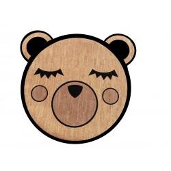 Spielteppich aus Kork - Bär