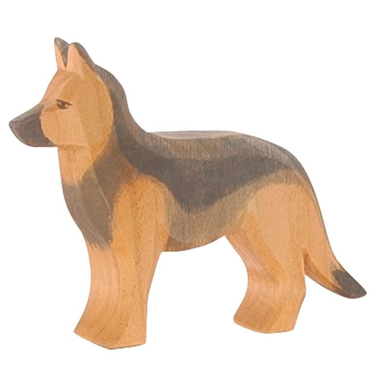 Holztier: Schäferhund