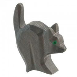 Holztier: Katze für Hexe