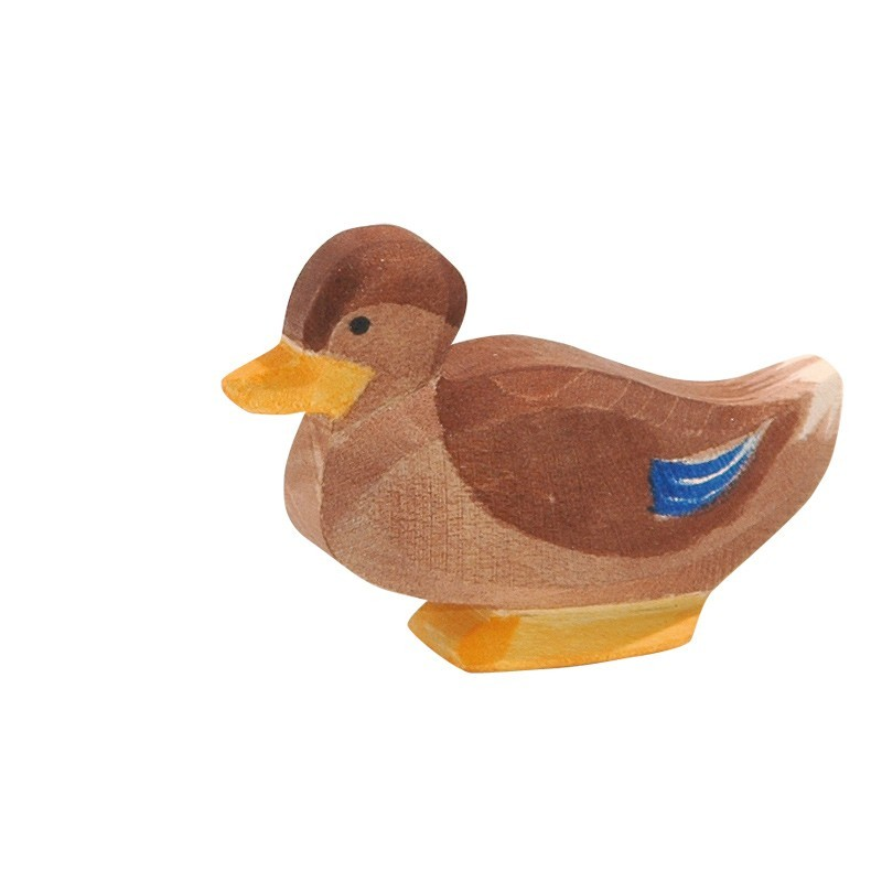 Holztier: Ente sitzend