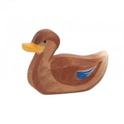 Holztier: Ente schwimmend