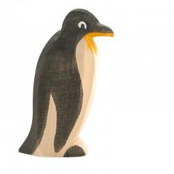 Holztier: Pinguin Schnabel gerade