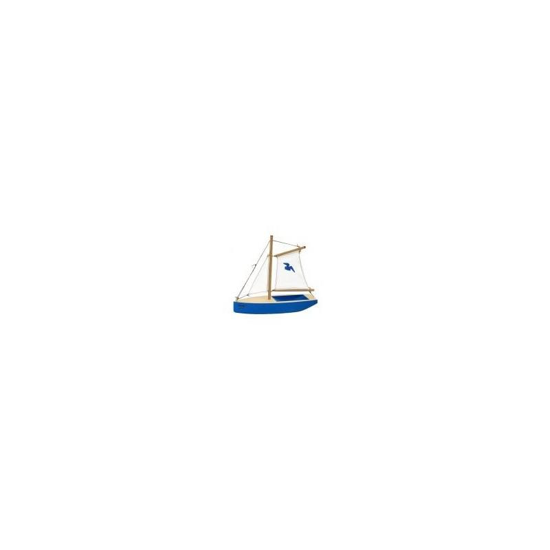 Segelschiff mittel blau