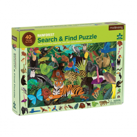 Regenwald Search & Find Puzzle