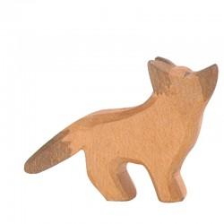 Holztier: Schäferhund klein Kopf hoch