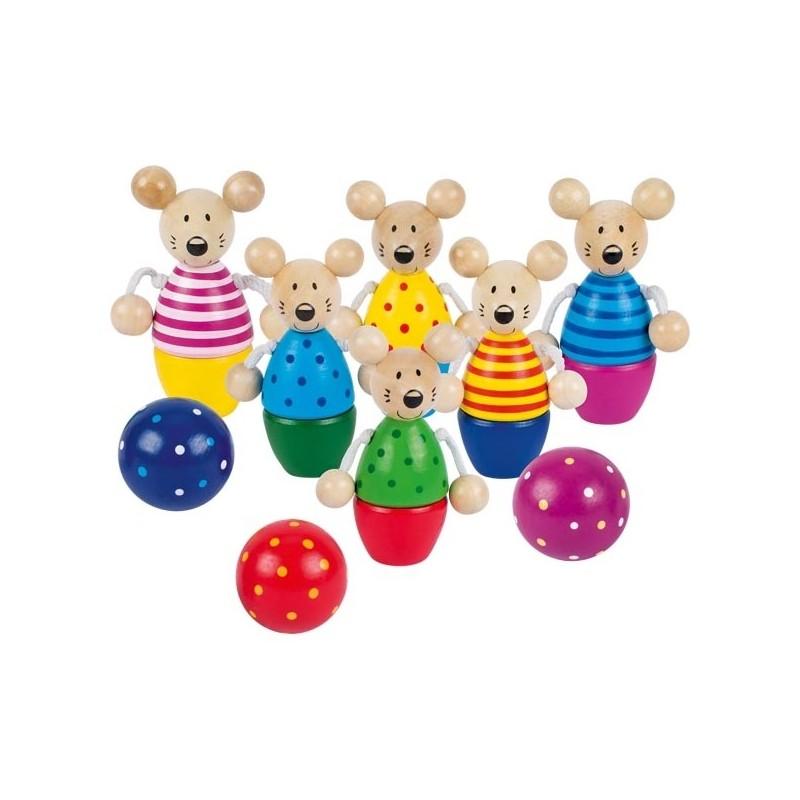 Mäuse Kegelspiel