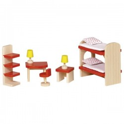 Puppenhaus Kinderzimmer 11-teilig