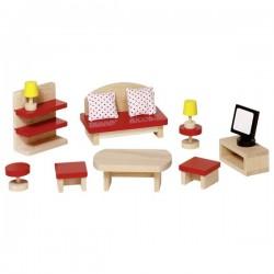 Puppenhaus Wohnzimmer 13-teilig