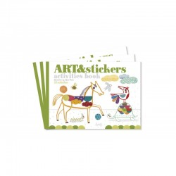 ART & stickers activities book
