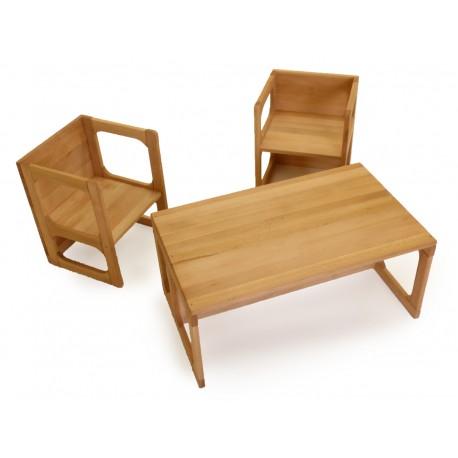 Kinder-Möbelset: 1 Wendetisch 2 Wendestühle