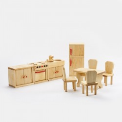 Puppenhaus Küche Massivholz