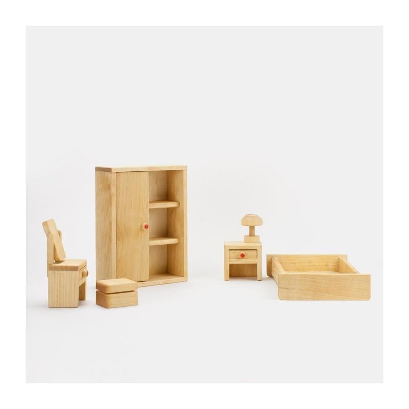 Puppenhaus Schlafzimmer Massivholz