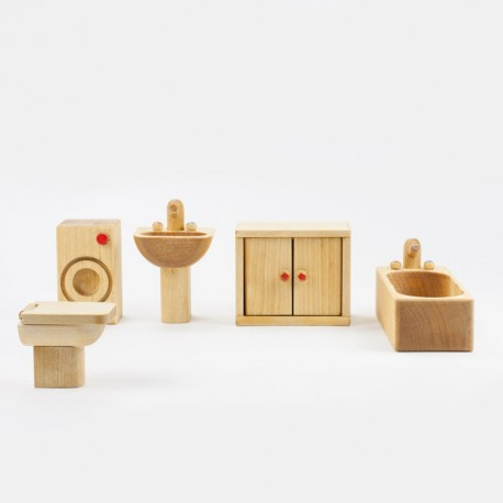 Puppenhaus Badezimmer Massivholz