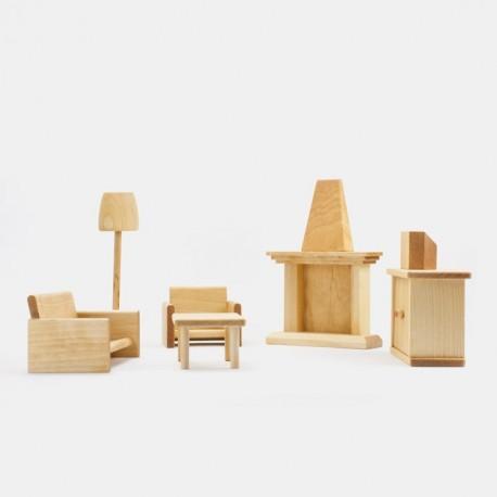Puppenhaus Wohnzimmer Massivholz