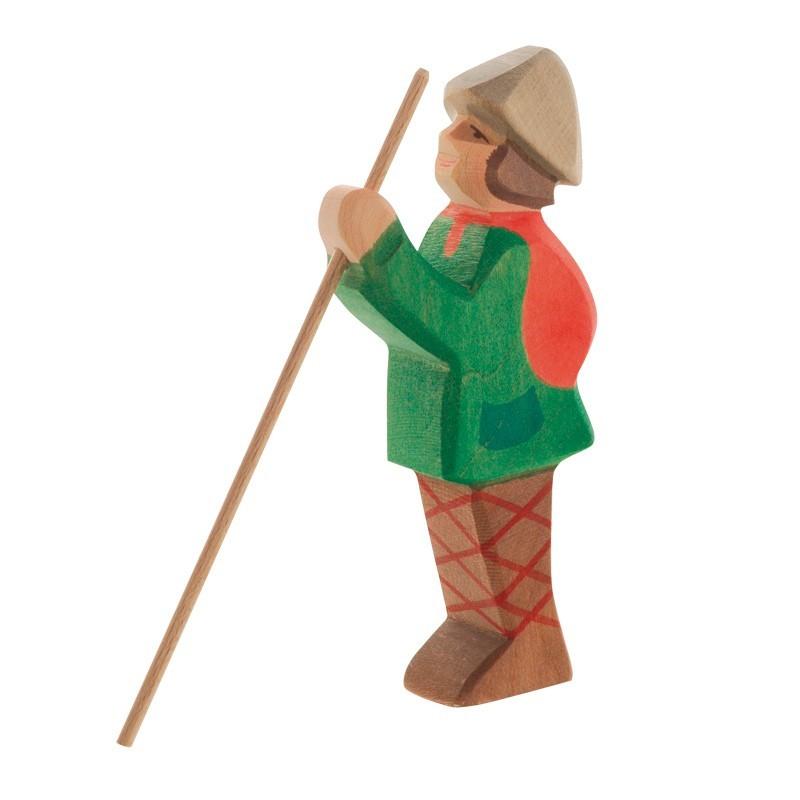 Holzfigur: Hirte stehend