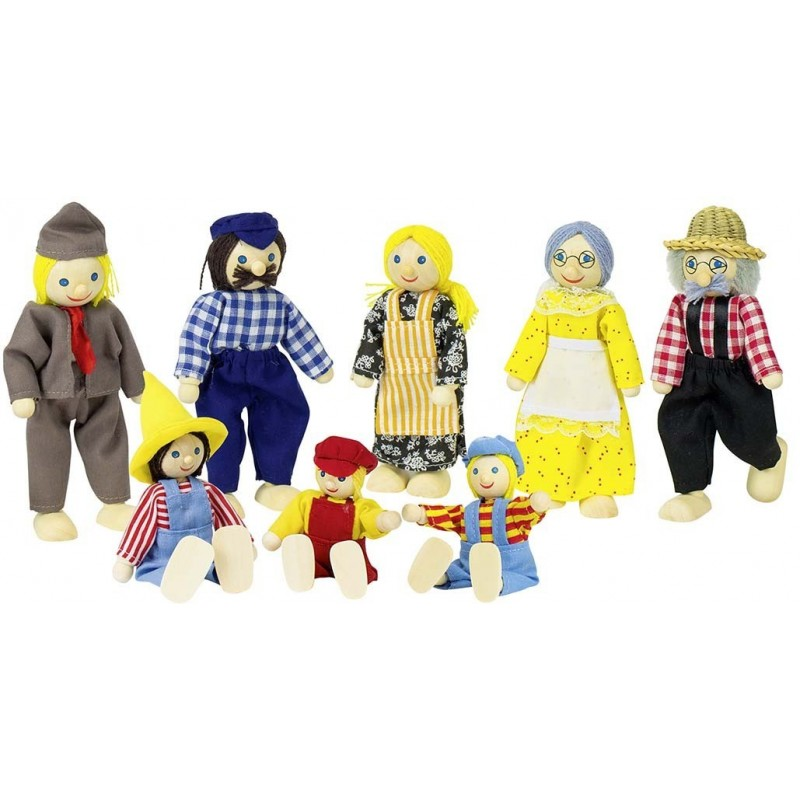 """Puppen """"Bauernfamilie"""""""