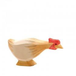 Holztier: Huhn ocker lang