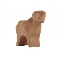 Holztier: Schaf stehend braun