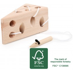 Fädelspiel Käse und Maus