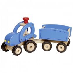 Traktor mit Anhänger blau