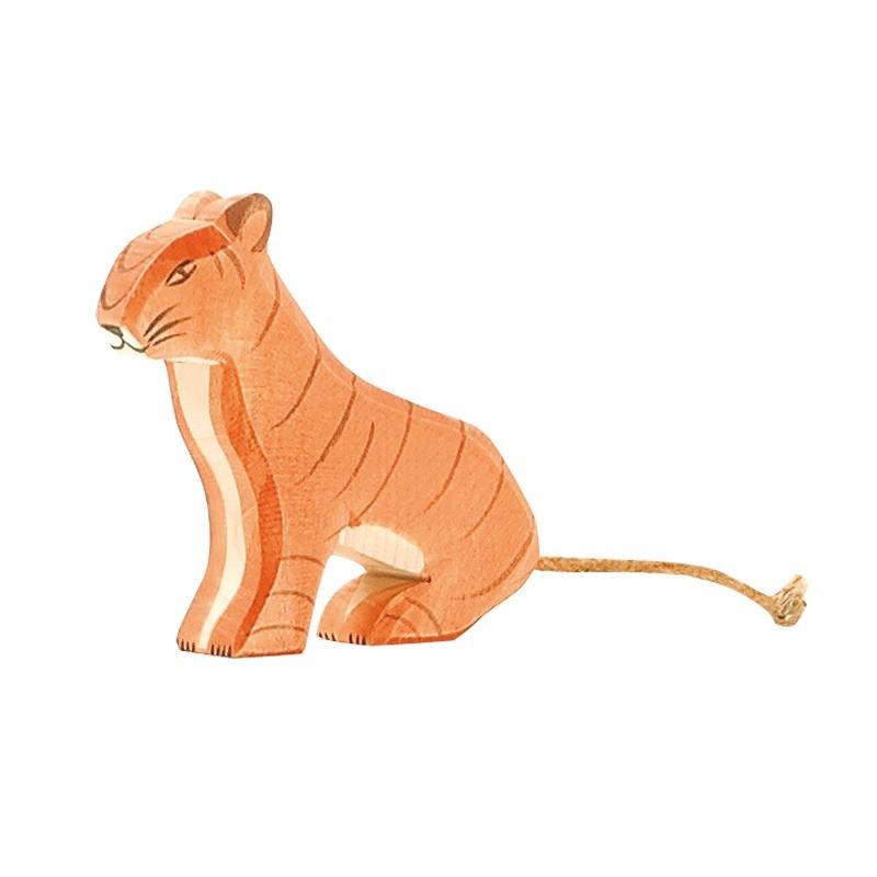 Holztier: Tiger sitzend