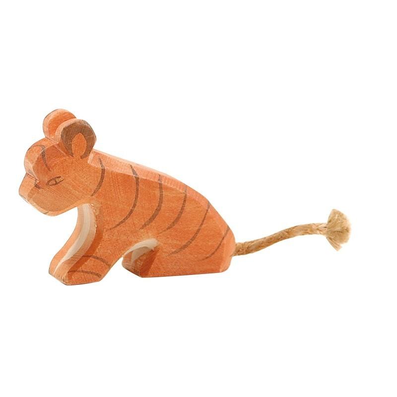 Holztier: Tiger klein sitzend