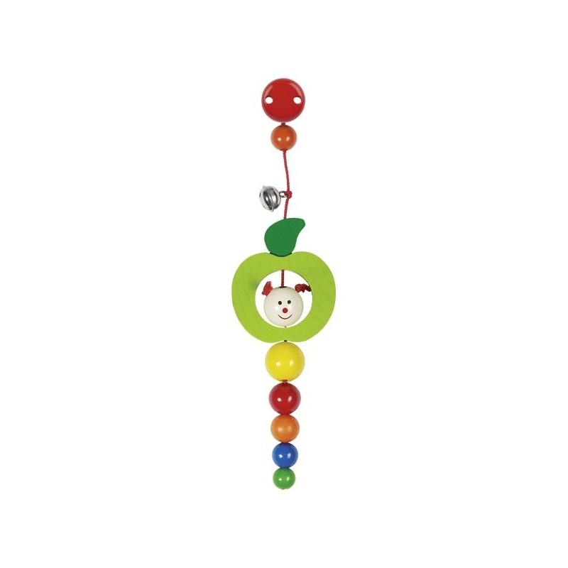 Clip Raupe im Apfel mit Glocke