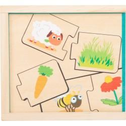 Holzpuzzle - was fressen Tiere